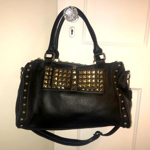 Black Purse with Gold Studs